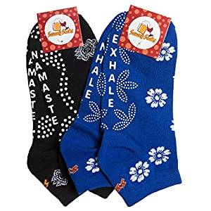 Non-slip Non-Skid Yoga Pilates Socks for Women, Pure Barre, Great Grip for Balance
