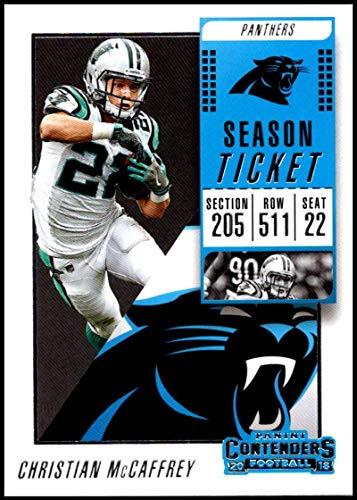 Amazon.com  2018 Panini Contenders Season Tickets  85 Christian McCaffrey  Carolina Panthers NFL Football Trading Card  Collectibles   Fine Art 34e962262