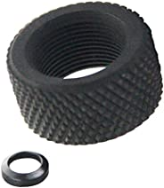 UP100® .936 Black Steel 308 .308 Thread Protector 5/8x24 Pitch + Crush Washer