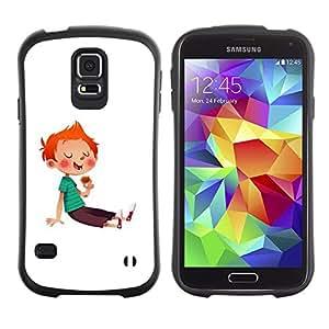 Suave TPU GEL Carcasa Funda Silicona Blando Estuche Caso de protección (para) Samsung Galaxy S5 / CECELL Phone case / / Boy Kid Red Hair Sugar Rush Sweets Candy /