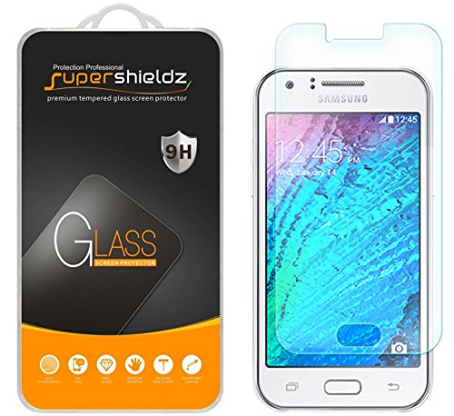 [2-Pack] Supershieldz for Samsung Galaxy J1 (Verizon) Tempered Glass Screen Protector, Anti-Scratch, Anti-Fingerprint, Bubble Free, Lifetime Replacement Warranty