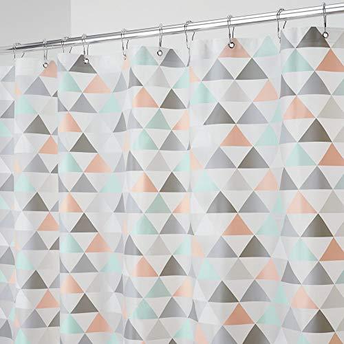 mDesign Decorative Triangle Print - Waterproof, Mold/Mildew