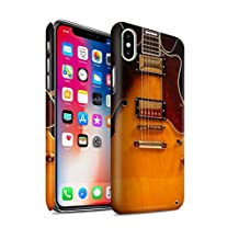 STUFF4 Matte Hard Back Snap-On Phone Case for Apple iPhone X/10 / Semi Acoustic Design / Guitar Collection