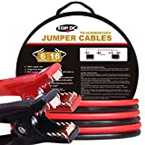 TOPDC 100% Copper Jumper Cables 6 Gauge 16 Feet 450AMP Heavy Duty Booster
