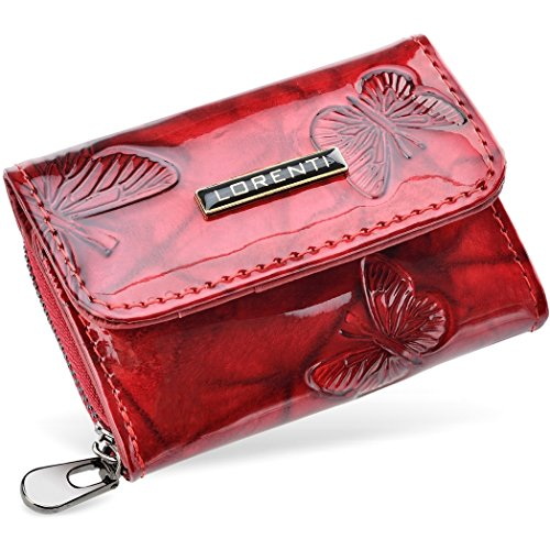Taschen-Geldbörse Damen Portemonnaie Lorenti lakiert (Krokodilhaut) Schmetterlinge ulWmRTs