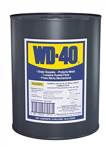 (WD-40 49012 Open Stock Lubricants, 5 gal, Canister, Light)