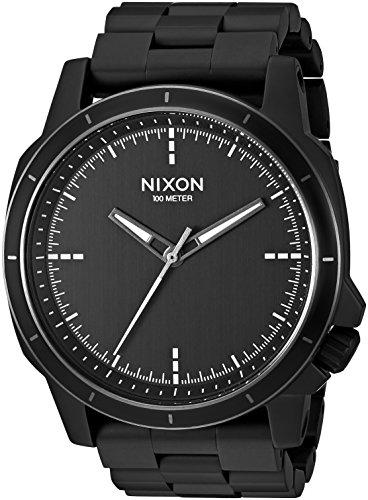 Nixon Men's 'Ranger Ops' Quartz Stainless Steel Automatic Watch, Color:Black (Model: A913001-00)