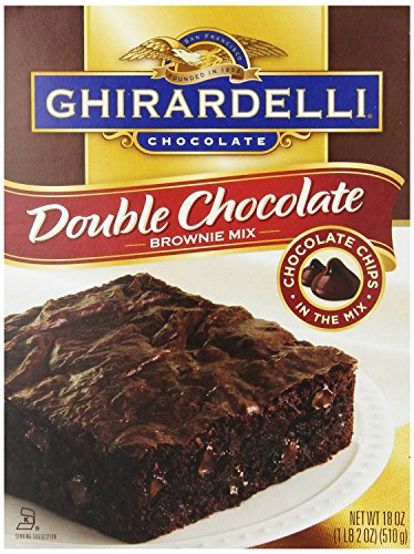 Ghirardelli, Chocolate Double Chocolate Brownie Mix, 18oz Box (Pack of 3) by Ghirardelli