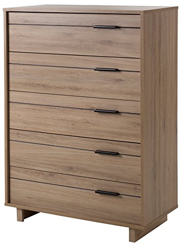 South Shore 9067035 Fynn Collection 5-Drawer Chest-Rustic Oak