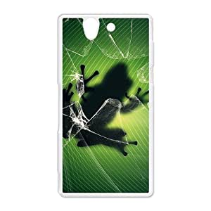Frog Funny Hard Protective Plastic Back Case Cover for Sony Xperia Z Perfect as Christmas gift(2)