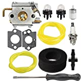 Savior Carburetor WT-827-1 with Air Filter Fuel Line Screwdriver for Troy-Bilt TB10CS TB20CS TB20DC TB65SS TB70FH TB70SS TB90BC Carb Trimmer 791-182875 753-05133 753-04333