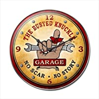 Past Time Signs BUST046 Busted Knuckle Garage Automotive Clock