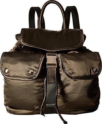 STEVE MADDEN, JAX, WOMEN SATIN BACKPACK WITH FUNCTIONAL OUTSIDE POCKETS, COMFORTABLE SHOULDER STRAP (Satin Backpack)