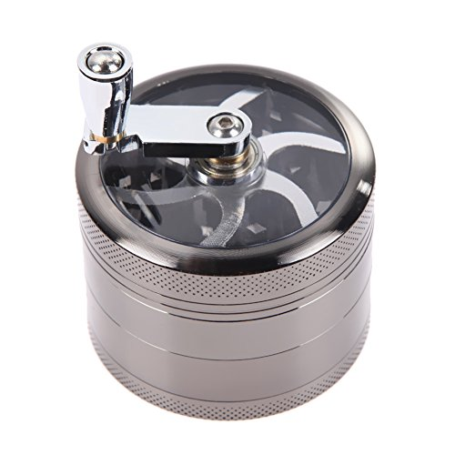 Tobacco Grinder Aluminum Herb Spice Crusher Muller Mill Hand Gray - 1