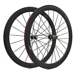 Hulk-sports-700C-Carbon-Wheelset-50mm-Depth-Clincher-23mm-Width-Rim-Carbon-Road-Bike-Wheels-Rim-Brake-Racing-Bike-Wheel-Bicycle-Wheelset-for-7891011-Speed-Wheelset-50mm-wheelset