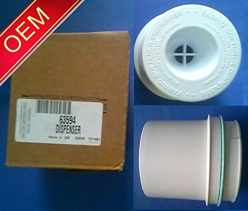 Price comparison product image Part 63594 - New OEM Genuine Factory - Whirlpool Kenmore Maytag Roper Estate- Clothes Washer Fabric Softener Dispenser