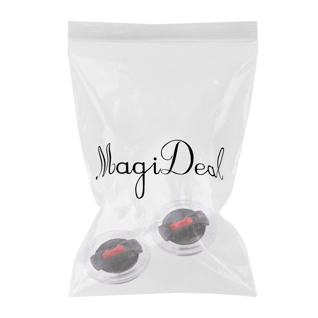 MagiDeal 1 Pair Helmet Screen Lens Mounting Fix Base with Rotate Switch for LS2 Helmet
