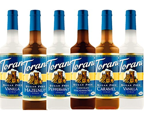 Holiday Syrup - Torani Sugar Free Syrup Holiday Variety Pack, 25.4 Ounce (Pack of 6)