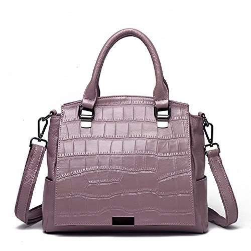 Bolsos Portátiles De Las Compras Del Ocio De La Moda Del Bolso De Hombro De Las Mujeres Purple