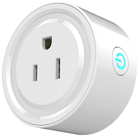 iDOBBi a-001 Wireless Mini Plug Outlet, Compatible with Alexa, Voice/Light
