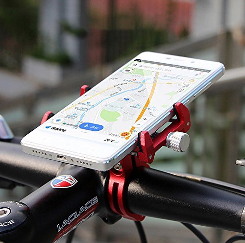 MaxMiles Motorcycle and Bicycle Cell Phone Holder Aluminum Universal Adjustable Phone Mount Smartphone Holder Bike Handlebar Phone Holder for iPhone X 5 6 7 8 Plus Samsung LG (Rotation Red) by MaxMiles (Image #9)