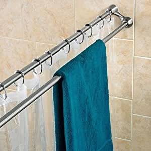 Amazon Com Duo Shower Curtain Rod Home Amp Kitchen
