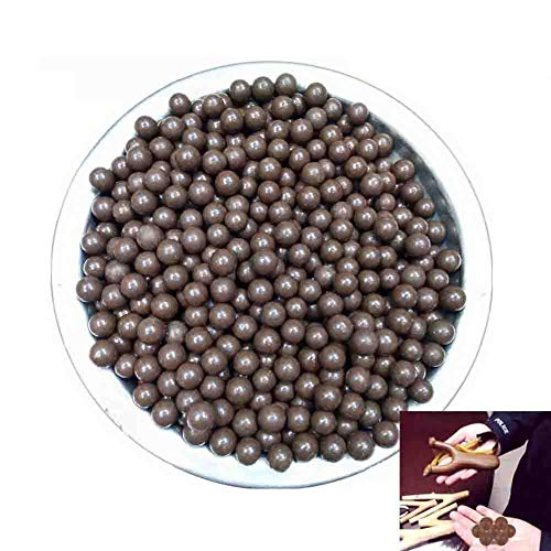 NIDAYE Fabcell Slingshot Ammo Balls - 1000pcs 3/8 Inch (About 9mm) Hard Clay Slingshot ()