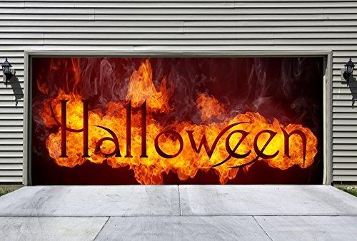 Halloween Decals for Garage Doors Outdoor Decorations of House 3D Halloween Decorations for Garage Door Decor (Halloween Decorations Garage Door)