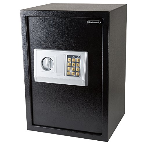 Stalwart Digital Safe-Electronic, Extra-Large, Steel, Keypad, 2 Manual Override Keys-Protect Money, Jewelry, Passports-for Home or Business (Electronic Manual)