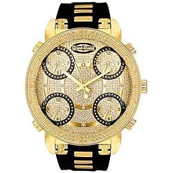 Super Techno Mens Diamond Five Time Zone Watch GM5-50Y