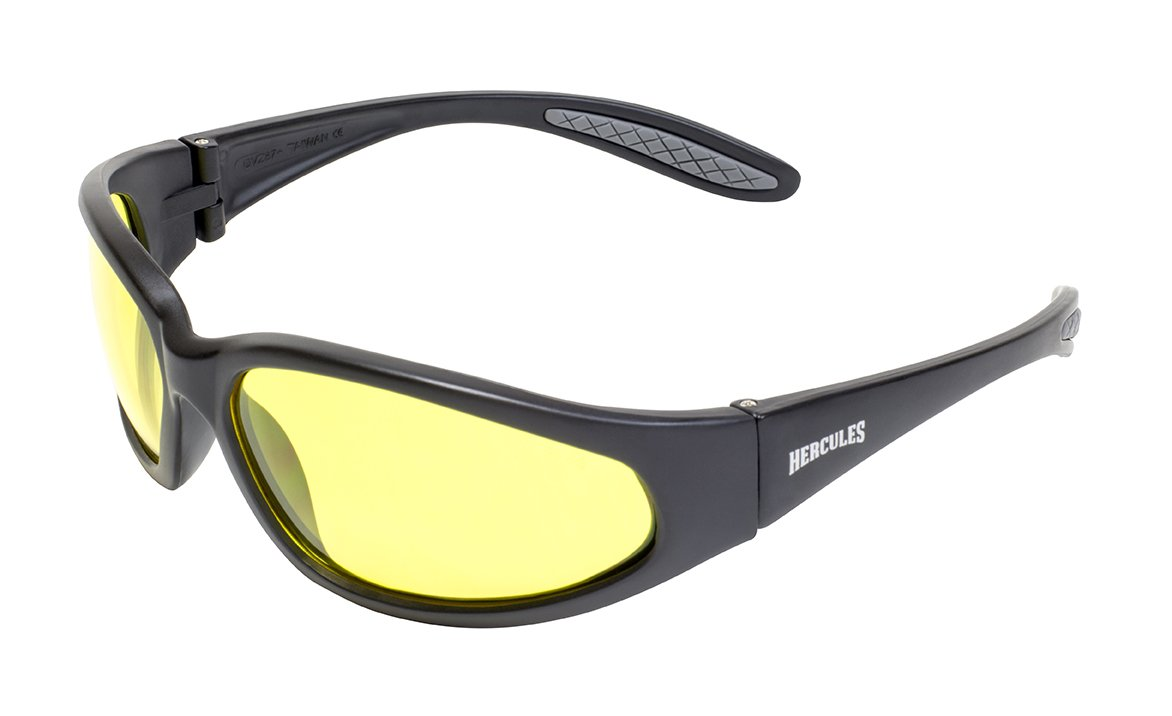I-Sential Hard Case /& Cloth Anti Glare Night Driving Glasses Wraparound Polycarbonate Shatterproof UV400 Lens