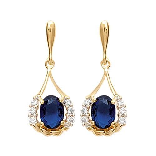 Isady – Isadora Gold – Damen Ohrringe – 18 Karat (750) Gelbgold platiert – Ohrhänger – Zirkonia