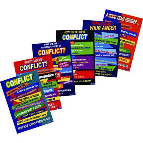 Didax DD-2168 Conflict Resolution Posters (Pack of 6)