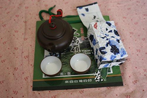 Yi-Sin Zi-Sha Tea Pot set 150 ml & Taiwan Da-Yu-Ling New Leaf Green Tea - Taiwan High Mountain Grown Tea Premium Quality
