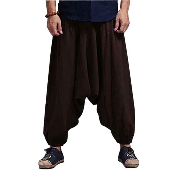 CX-Store Pantalones De Harenm Negro Ocasional De Los Hombres Hippie Hip Hop  Sueltos Holgados Pantalones Bombachos  Amazon.es  Ropa y accesorios f38f3a537042