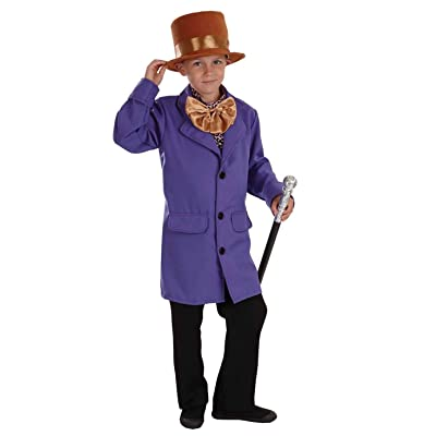 fun shack Kids Chocolate Factory Owner Costume Purple World Book Day Outfit: Toys & Games