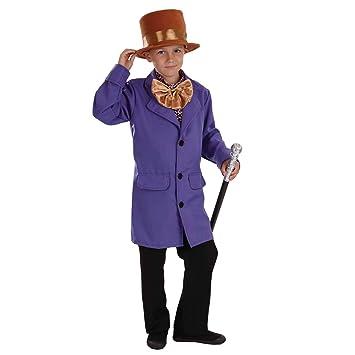 Fun Shack Púrpura Propietario De Fábrica Disfraz para Niños - M ...