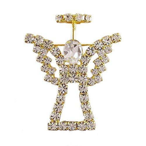 Christmas Holiday Angel Cherub Ferry hand soldered Crystals Gift Brooch pin - Pin Cherub Brooch