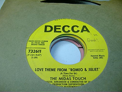 Juliette Crystal - THE MIDAS TOUCH 45 RPM Love Theme From Romeo & Juliet / Crystal Blue Persuasion