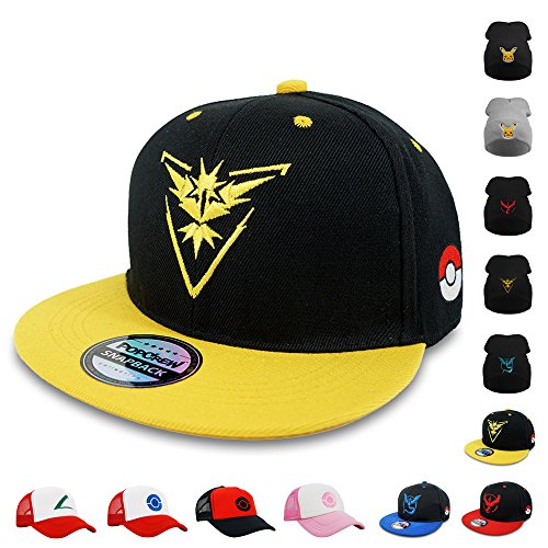 PopCrew [Embroidered Team Trainer Hat] Pokemon Cosplay Costume (Team Instinct S) (Couples Cosplay Costumes)