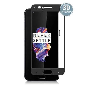 E-Hamii Protector de Pantalla Compatible con OnePlus 5[Negro ...