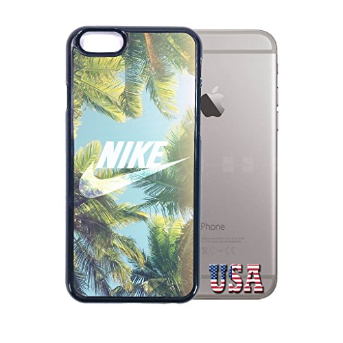 nike iphone 6 case Customized soft rubber white phone case, palm tree