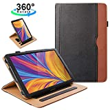 ZoneFoker New Samsung Galaxy Tab A 10.1 inch 2019 Tablet Leather Case, 360 Rotating Multi-Angle Viewing Folio Stand Cases with Pencil Holder for Galaxy Tab A 10.1 SM-T510/SM-T515 - Black/Brown