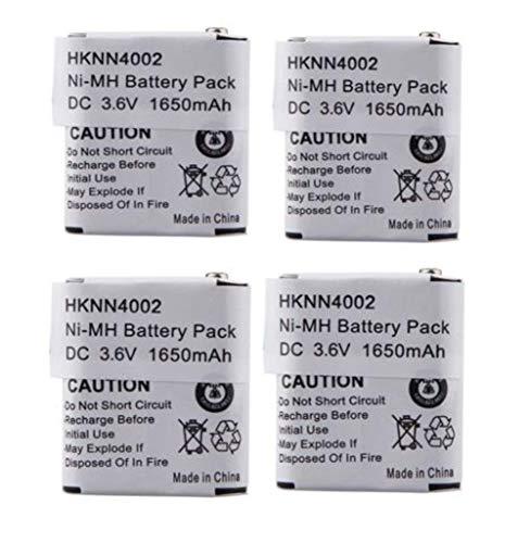 Series T4800 - Motorola HKNN4002 Battery 3.6V 1650mAh Ni-MH Replacement Battery for Motorola 56315 HKNN4002A HKNN4002B KEBT-071-A KEBT-071-B KEBT-071-C KEBT-071D CS-MTV500TW T4800 (4 Pack)