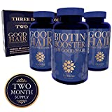 Hair Growth Vitamins with Biotin – TRIPLE PACK – Natural Supplement for Hair Loss, Thinning, Shedding, Breakage + Longer, Stronger, Healthier Hair | Regrowth Pills for Women + Men | 180 Vegan Capsules