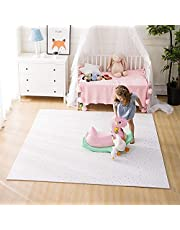FORSTART Baby Play Mat,Non-Toxic Floor Mats for Kids, Thickened 0.8 inch Foam Flooring Tiles, Durable Play Mats, Interlocking Floor Mats for Kids, Floor Mat for Infants, Toddlers, Pet-Friendly