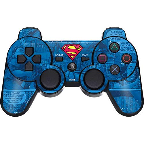 Skinit Superman Logo PS3 Dual Shock Wireless Controller Skin - Officially Licensed Warner Bros Gaming Decal - Ultra Thin, Lightweight Vinyl Decal Protection (Ps3 Superman Controller Skin)