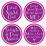 Divorce Party Coasters (asstd designs) Party Accessory  (1 count) (8/Pkg)