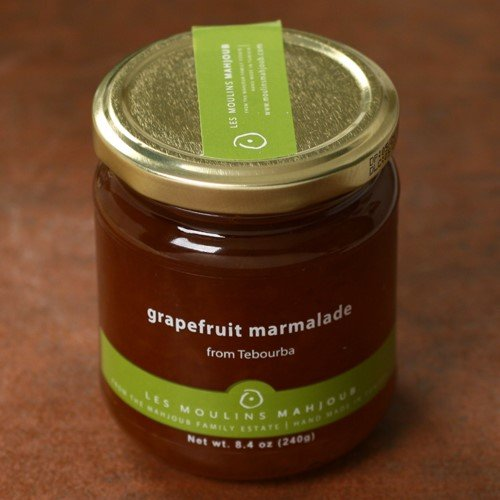 Grapefruit Spread - Grapefruit Marmalade by Les Moulins Mahjoub (8.4 ounce)