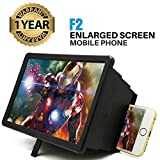 Supreno F2 Screen 3D Magnifier Enlarger Stand Holder Unique Foldable Box Shaped for Latest Smart Phones, Redmi, Nokia, Samsung, Vivo, Moto, Oppo, Apple Device